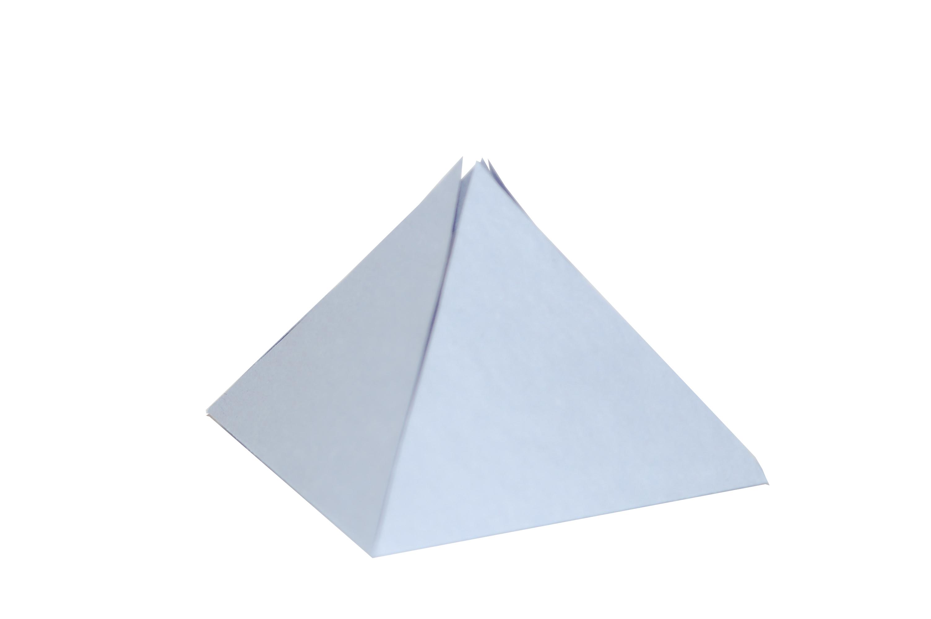 Как правильно сделать пирамиду из бумаги
