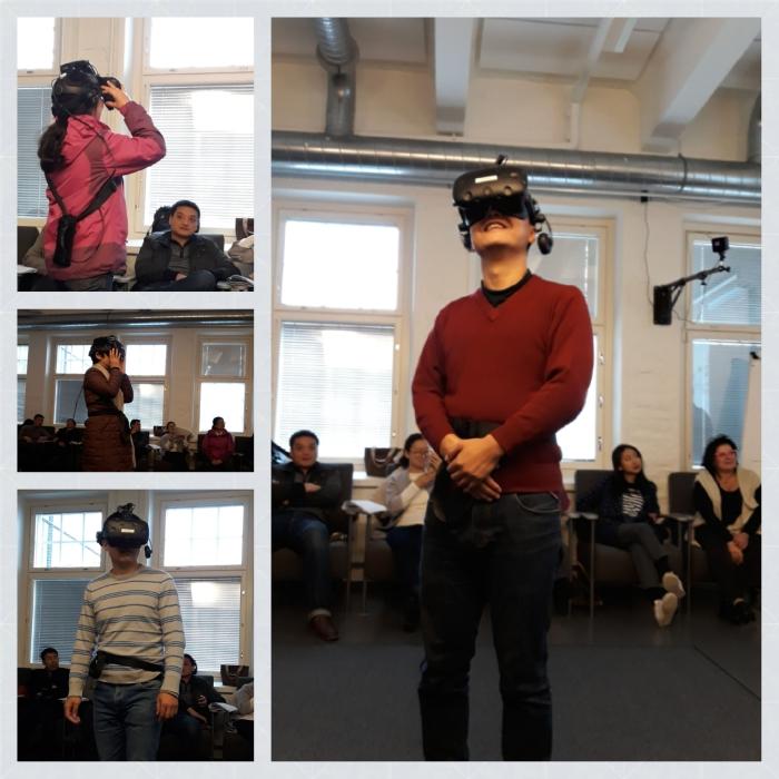 vierailijat tutustuivat Kehto-hankkeeseen ja virtuaalisiin oppimisympäristöihin