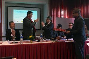 TPP-hankkeen seminaarin puhujia ja hanketoimijoita.