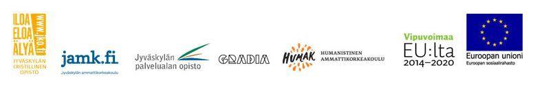Hankkeen toteuttajien ja Euroopan sosiaalirahaston logot