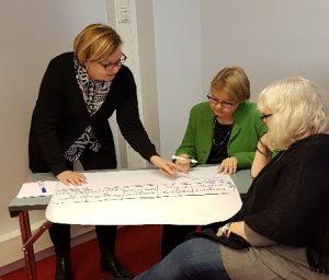 Toimintaa ja kohtaamisia -projektin työntekijöitä työskentelemässä.