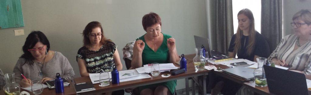 projektin toimijoita Liettuan kokouksessa