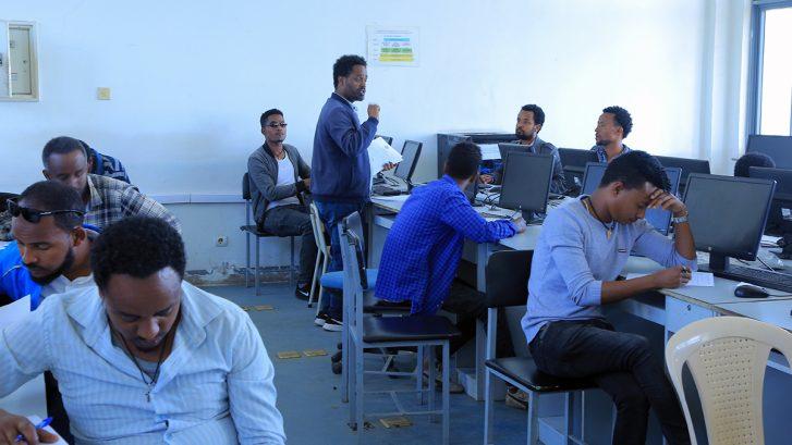 teacher education in Addis Abeba, computer class room