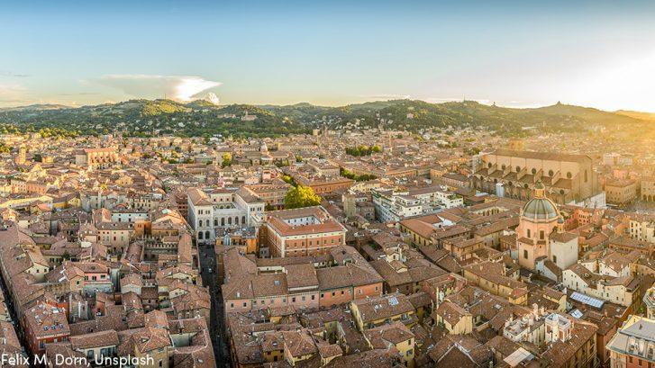 Bologna city center, Italy, landscape