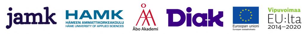 Projektin toteuttajien logot ja Euroopan sosiaalirahaston logot
