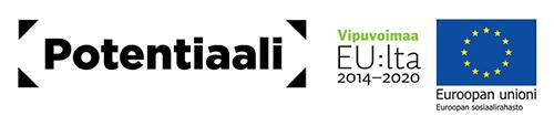 Euroopan sosiaalirahaston logot ja Potentiaali-hankkeen logo