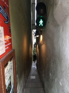 The narrowest street of Prague