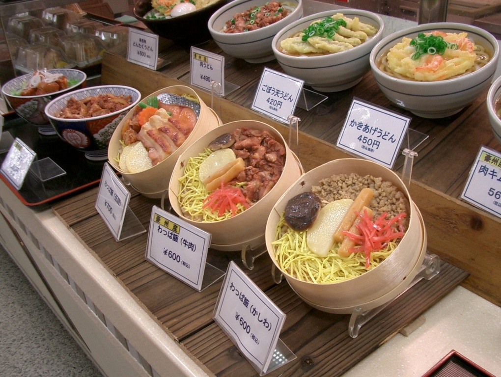 sample dishes in one of the restaurants