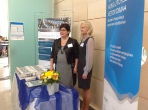 STUDIO-projektin veturinaiset Anita Eskola-Kronqvist ja Elisa Tuominen.