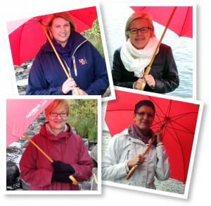 Satakunnan Opin Oven projektitoimijat (vasemmalta ylänurkasta): Anu Hellesuo, Elina Harju-Vahekoski, Liisa Sarasoja ja Ulla-Maija Heino.