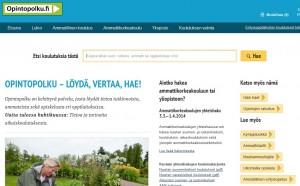 Opintopolku.fi:n etusivu.