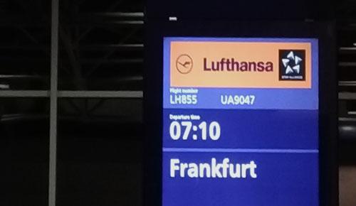 Lentokentällä.