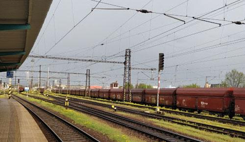Pardubicen juna-asema.