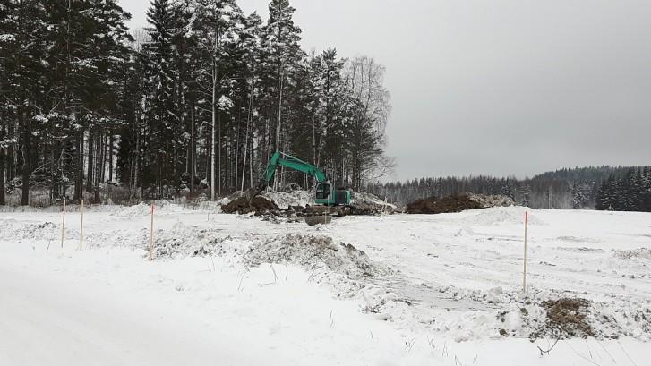 Bioterminaalialueen rakentaminen ja Tuumalantien siirto ovat alkaneet.