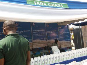 Yaralla oli näyttelyssä osasto.
