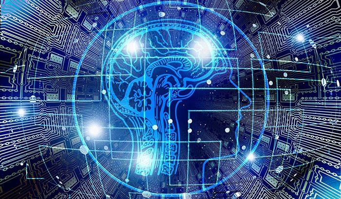 Neuroverkkokuvio ihmisen pään ympärillä