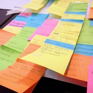 Innovaatioviikon design thinking prosessissa sadoista ideoista koostetaan asiakaslähtöisiä konsepteja. (kuva: Anu Raulo)