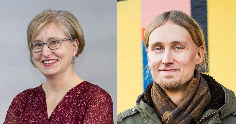 Puhujavieraat Susanna Markkola ja Jaakko Blomberg.