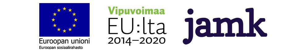 Rahoittajalogot Euroopan unioni/Euroopan sosiaalirahasto, Vipuvoimaa EU:lta ja Jyväskylän ammattikorkeakoulu